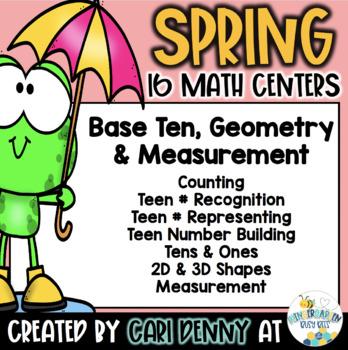 Spring Math Centers: Base Ten, Geometry & Measurement