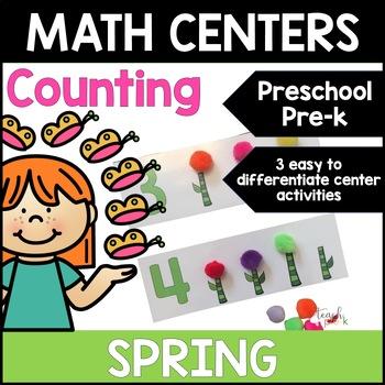 Spring Math Centers: Counting for Preschool, PreK, K & Homeschool
