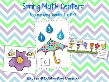 Spring Math Centers - Decomposing Number/Skip Counting