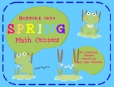 Spring Math Centers - Frog Theme
