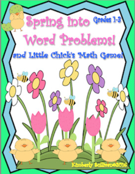 End of the Year Activities Spring Word Problems and Games Grade 1-3