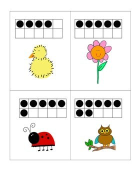 Spring Math Centers Ten Frames, Comparing, Roll and Graph