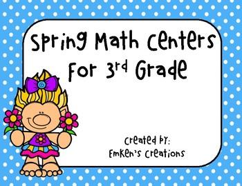 Spring Math Centers - Third Grade