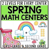 Spring Math Centers for 1st & 2nd Grade