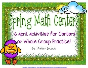 Spring Math Centers for April