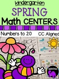 Spring Math Centers for Kindergarten - Numbers to 20