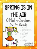 Spring Math Centers for Second Grade
