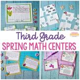 3rd Grade Spring Math Centers - Fun Test Prep
