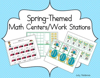Spring Math Centers/Work Stations for Kindergarten