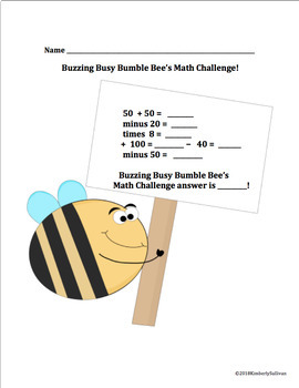 End of the Year Activities Spring Math Challenges Grades 3 - 5 Centers