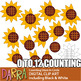 Spring Math Clip Art - Counting pictures sunflower petals
