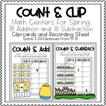 Spring Math Clip Cards