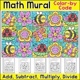 Spring Math Color by Number Mural: Add, Subtract, Multiply, Divide