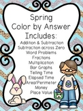 Spring Math Color-by-Number