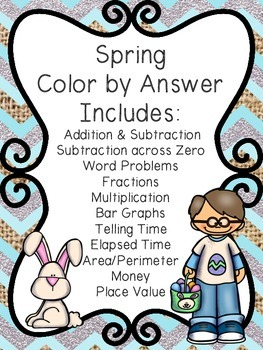 Spring Math Color by Answer