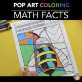 Spring Math Fact Review Coloring Sheets - Fun Spring Activity!