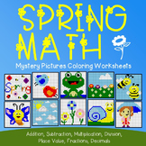 I Love Math Coloring Sheets Spring Homework Packet Mystery Number Picture Sheets