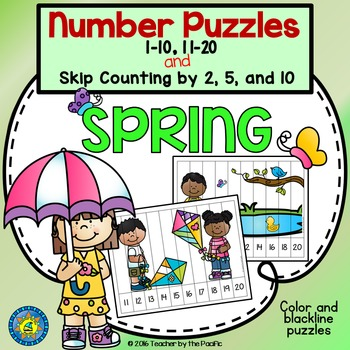 Spring Math: Number Sequencing Puzzles