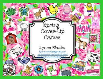 Spring Math Cover-Up Games