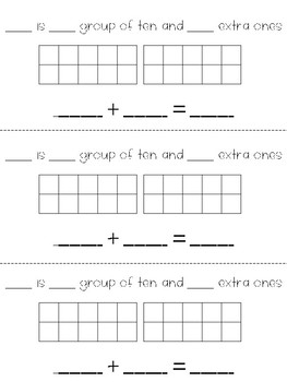 Spring Math Craft - Teen Numbers