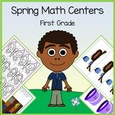 Spring Math Centers - 1st grade Common Core