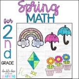 Spring Math Craftivities for SECOND Grade {Time, Geometry, Place Value & more!}