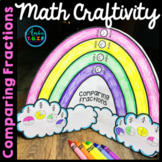 Spring Math Craftivity Comparing Fractions - Rainbow Theme