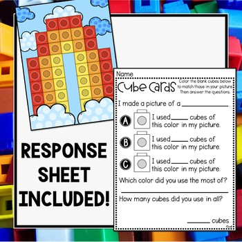 Spring Math Cube Cards - Use with Unifix or Linking Cubes