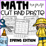 Spring Math Cut and Paste NO PREP {Grades 1-3}