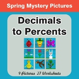 Spring Math: Decimals to Percents - Mystery Pictures