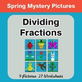 Spring Math: Dividing Fractions - Color-By-Number Mystery