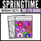 Spring Math Division Color by Number Worksheets Version 2