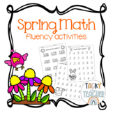 Spring Math Fact Fluency | Double Digit Addition and Subtraction, Money & More!