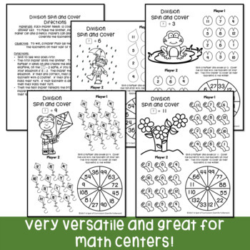 Spring Math Fact Fluency Games for Multiplication and Division