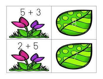 Spring Math Fact Match-Up