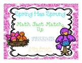 Spring Math Fact Match-Up
