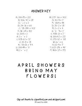 Spring Math Facts Decoder
