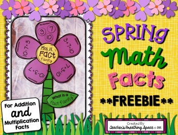 Spring Math Facts Craftivity --- Addition / Multiplication Fact Family *FREEBIE*