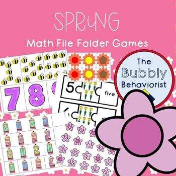 Spring Math File Folder Games