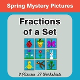 Spring Math: Fractions of a Set - Color-By-Number Mystery