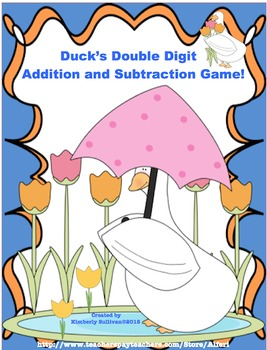 Spring Task Cards Addition and Subtraction Math Centers Game