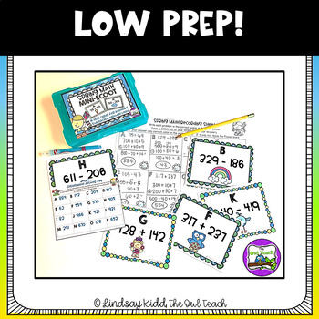 Spring Math Game:  Addition and Subtraction SCOOT (2nd Grade)