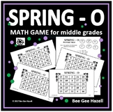 Spring Math Game for Middle Grades (SPRING-O)