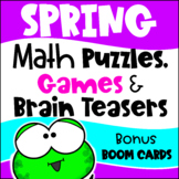 Spring Activities: Spring Math Games, Puzzles and Brain Teasers