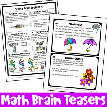 Spring Activities: Spring Math Games, Spring Math Worksheets, Spring Math Center