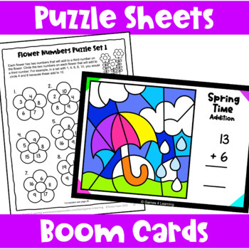 Spring Math Activities - Games, Puzzles and Brain Teasers