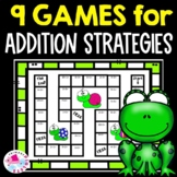 Spring Math Games with Addition Facts for Math Centers