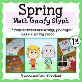 Spring Math Goofy Glyph (1st grade Common Core)