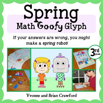 Spring Math Goofy Glyph (3rd grade Common Core)