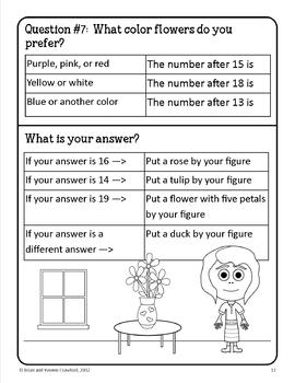 Spring Math Goofy Glyph (Kindergarten Common Core)